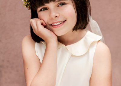 Clare J Sheridan Photography - Young smiling girl wearing floral crown