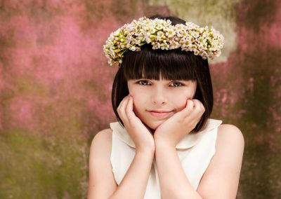 Clare J Sheridan Photography - Young girl wearing floral crown