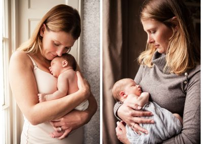 Clare J Sheridan Photography - Mother cradling newborn baby