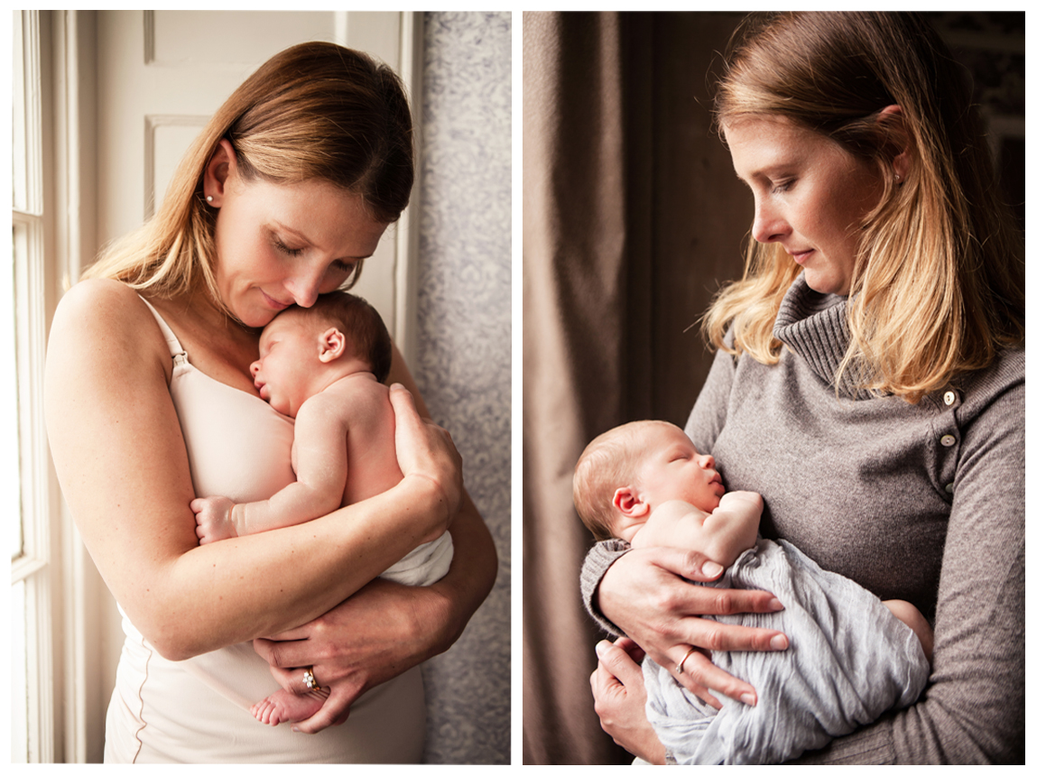 Clare J Sheridan Photography - Mother cradling newborn baby