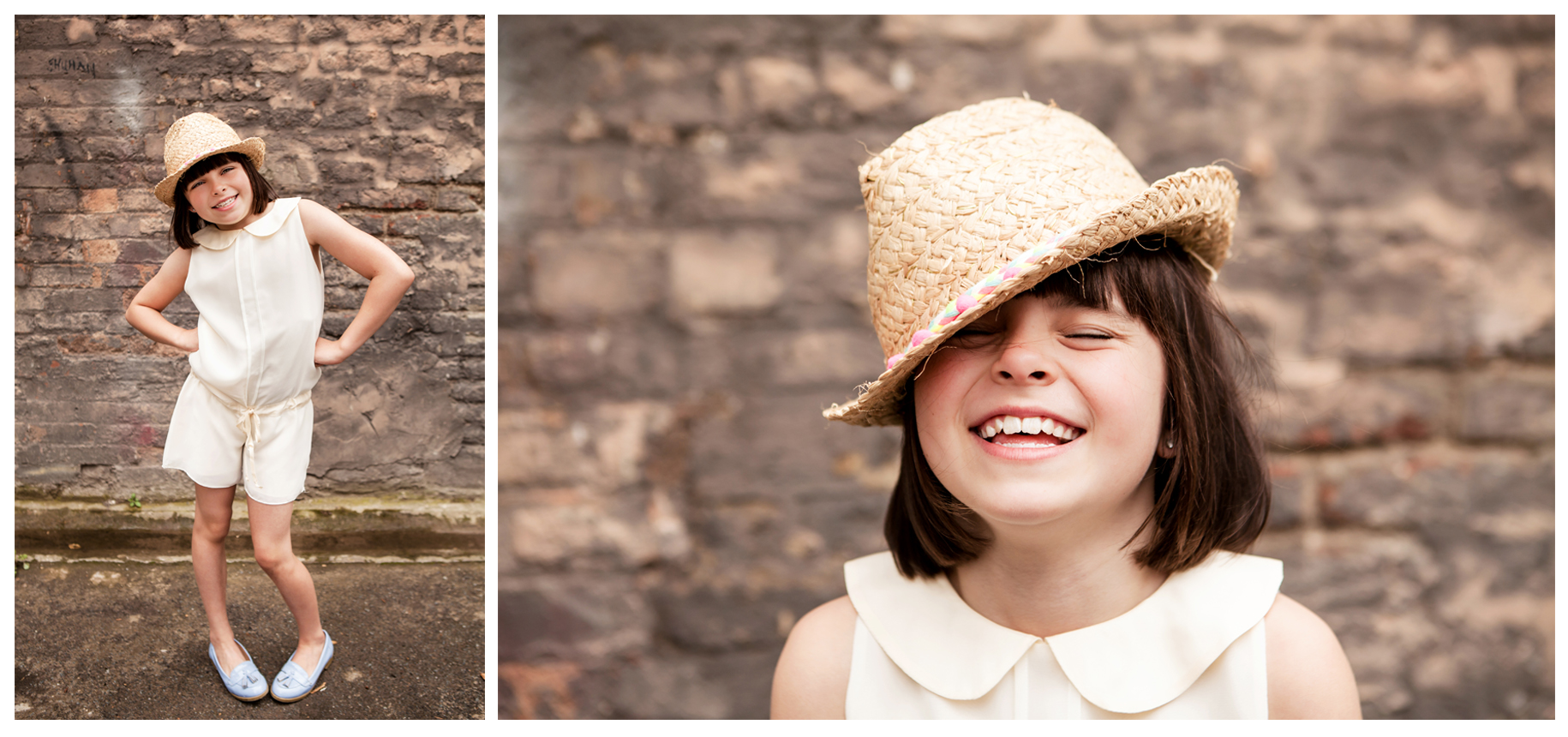 Clare J Sheridan Photography - Girl wearing straw hat