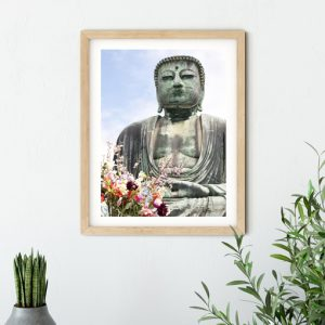 Giant Buddha fine art print hanging on wall - Clare J Sheridan Photography